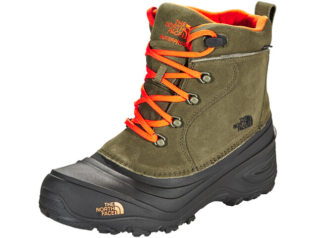 The North Face Kids Chilkat Lace 2 Shoes Tarmac Green/Scarlet Ibis